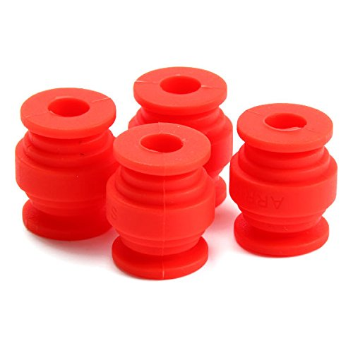 SkyQ Shock Absorption Damping Ball, for FPV Gimbal Camera Mount PTZ, Red, Pack of 4