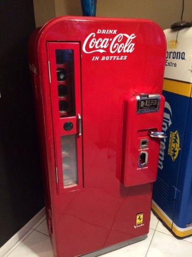 Red Coca Cola Vendo 81A Machine front-432013