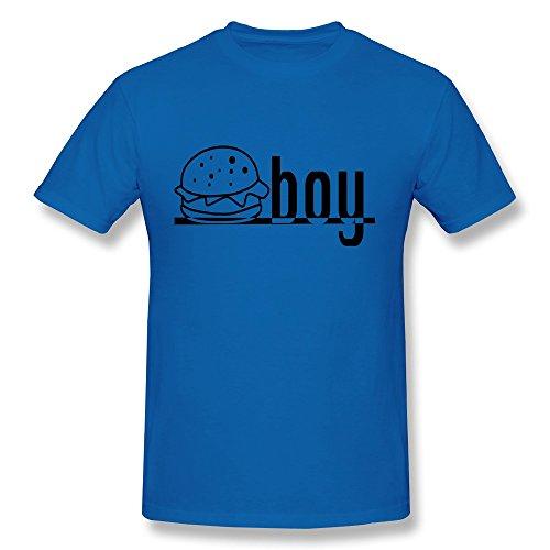 Facai Men'S Burger Boy Cotton Round Collar T Shirt S Royalblue