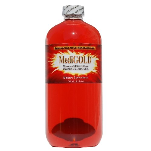 MediGOLD (20 ppm of 99.99+% Pure Bioavailable Colloidal Gold) - 500 mL (16.9 Fl Oz)