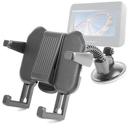 Duragadget Expandable Portable Dvd Player Tray And Suction Mount For Nextbase Click & Go Click 7 Lite Duo Twin Screen Portable Dvd Player