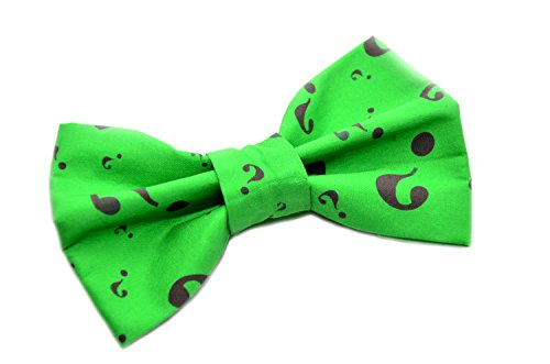 Riddler Bow Tie with Adjustable Strap Adult Kid and Toddler Sizes Available (Quirky Ties compare prices)