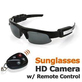 Sunglasses DV Camera, 1280x960 VGA Video, Remote control, 8GB Micro SDHC Memory Card included