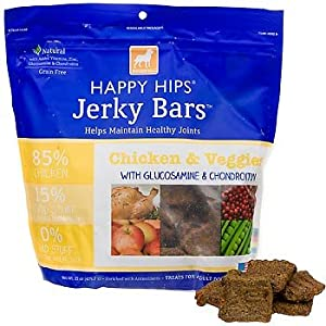 DOGSWELL 842244 Happy Hips Chicken Veggie Jerky Bar for Pets, 15-Ounce by Dogswell