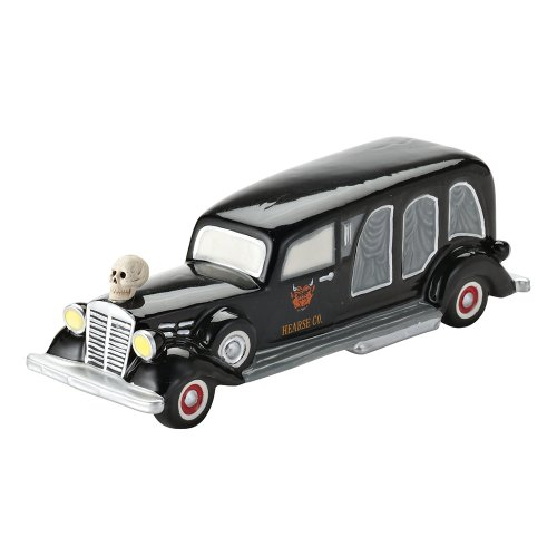 Department 56 4025403 Halloween Accessories for Dept 56 Village Collections Sell Your Soul, Hearse Village Accessory, 6.5