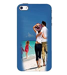 PrintDhaba Couple D-2452 Back Case Cover for APPLE IPHONE 5S (Multi-Coloured)