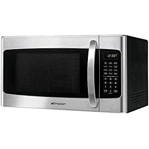 Stainless Steel 1000-Watt Microwave with Kitchen Timer - Emerson