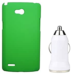 XUWAP Hard Case Cover With Car Charger For LG Spirit - Green