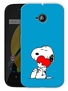 "Cute Puppy Dog Printed Designer Mobile Back Cover For ""Motorola Moto E"" By Humor Gang (3D, Matte Finish, Premium Quality, Protective Snap On Slim Hard Phone Case, Multi Color)"