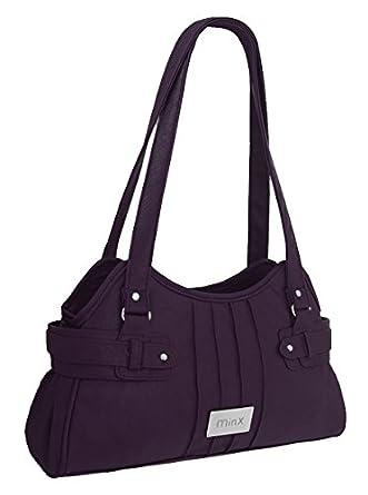 EyeCatchBags - Athens Damen Handtasche aus Kunstleder Dark Aubergine