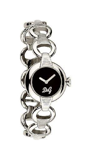 Dolce & Gabbana ATTERN SS BLK DIAL BRC DW0342 - Reloj de mujer de cuarzo, correa de acero inoxidable