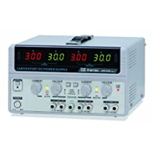 Instek GPS-3303 195W Triple-Output Linear DC Power Supply, 30V, 3 Amp