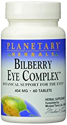 Planetary Herbals Bilberry Eye Complex Tablets, 60 Count