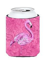 Flamingo on Pink Can or Bottle Beverage Insulator Hugger