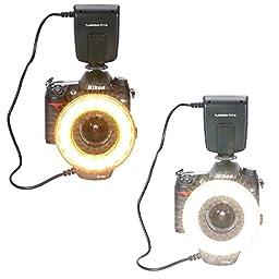 Neewer FC-110 18LED Macro Ring Flash Light For Canon 5D MarkIII 5D MarkII 650D/T4i 600D/T3i 550D/T2i 1100D/T3 60D 7D, Nikon D7000, D3200, D3100, D5100,D5000,Olympus, Pentax SLR Cameras
