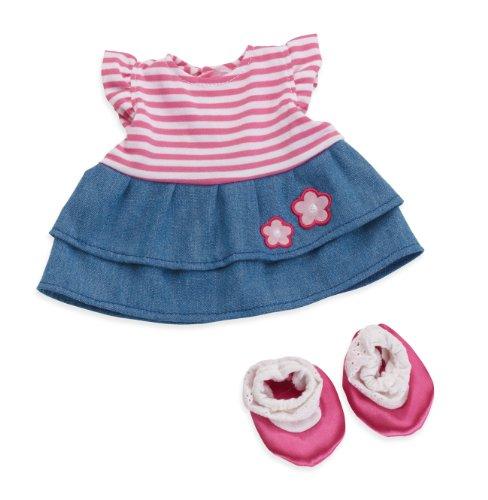 Manhattan Toy Baby Stella Splendid Stripes And Denim Dress Baby Doll Clothing front-871032