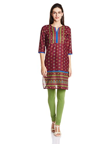 Vishudh Vishudh Women's Cotton Straight Kurta (Multicolor)