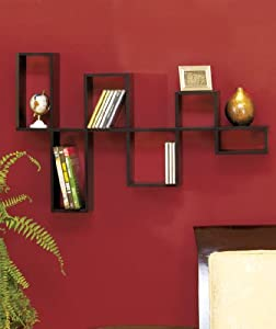 clickmehome Wooden Black Modular Wall Organizing Shelf Storage Home Decor Accent at Sears.com