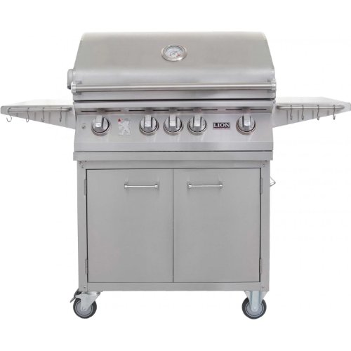 Lion inch stainless steel propane gas grill on cart
