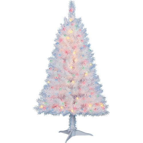 4-Ft-Pre-Lit-Multi-Color-White-Indiana-Spruce-Artificial-Christmas-Tree-by-Holiday-Time