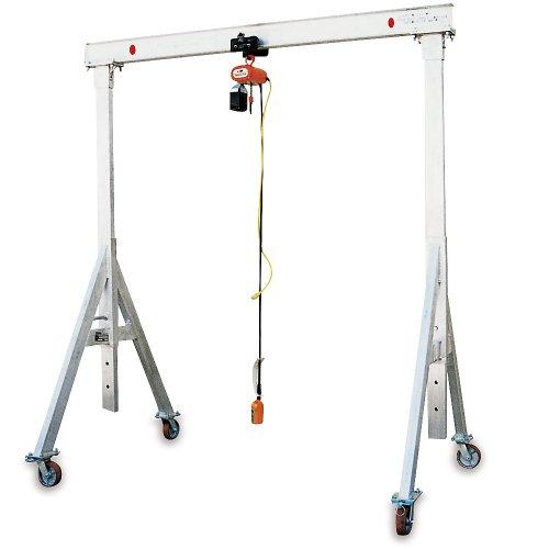 Relius Solutions Aluminum Gantry Cranes - 2000-Lb. Capacity - 10' Overall Span - 7'8