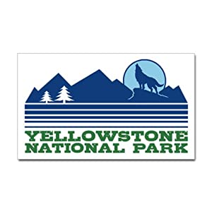 amazoncom cafepress yellowstone national park sticker With kitchen colors with white cabinets with yellowstone national park sticker