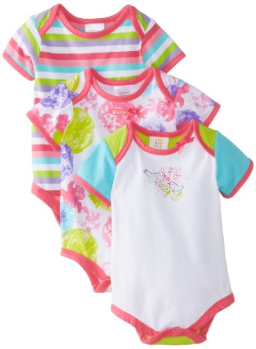 Absorba Baby-Girls Newborn Jardin Playette 3 Pack Body Suit Set, Multi, 0-3 Months front-844855
