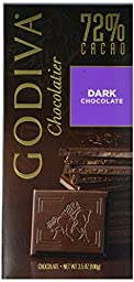 Godiva Tablet Bar 72% Dark Chocolate, 3.5 oz