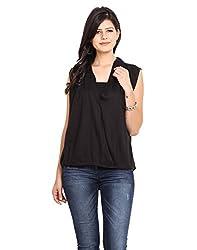 NVL Black Coloured Rayon Blouse Medium