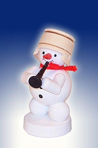 Schneemann-Musikant-mit-Klarinette-Hhe-ca-8-cm-NEU-Weihnachtsfigur-Tischfigur-Holz-Erzgebirge