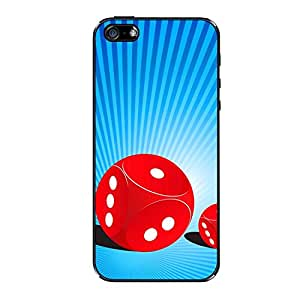 Vibhar printed case back cover for Apple iPhone 4 TwoDice