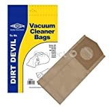 Vacuum Bags: Dirt Devil Pack of 5 for Handy, Handy Zip, Car Vac DD150, DD150T, DD150Z, DD153, DD154, DD250, DD500, DD500Z, DD553, DD553Z