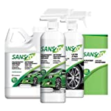 SANS-ZOTM High Performance Waterless Wash 100% Biodegrable Cleans, Shines and Protects Car, Truck, Motorcycle or Boat