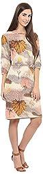 AVIRICH Women's Polyester Dress (AR0066_S, Multi-coloured, S)
