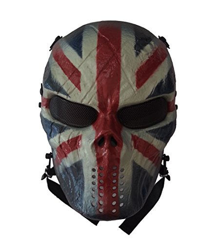 Reebow Gear Tactical Airsoft Mask with UK Flag Full Face