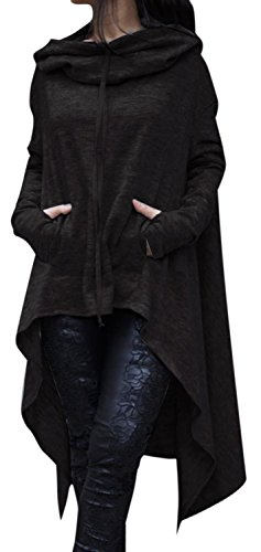 if-feel-women-casual-irregular-maxi-solid-color-hooded-shirt-blouse-top-us-14-16xl-black