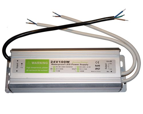 Waterproof Ip67 Led Driver Transformer 100 Watt 24V Power Supply With Double Output