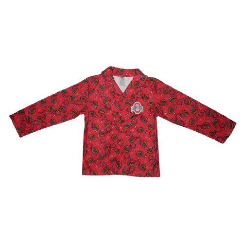 NCAA Ohio State Buckeyes Boys Or Girls Fleece Sleepwear Pajama Top