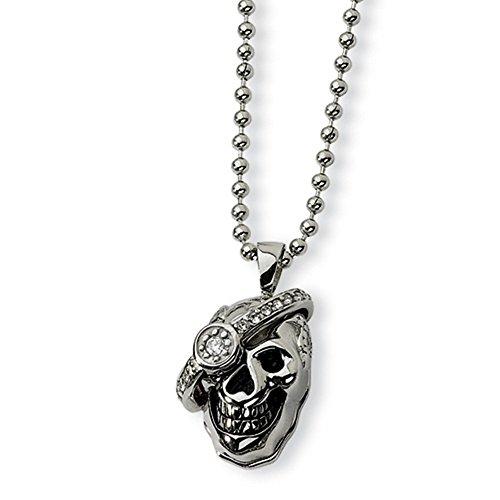 IceCarats® Designer Jewelry Stainless Steel Skull