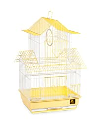 Prevue Hendryx SP1720-1 Shanghai Parakeet Cage, Yellow and White