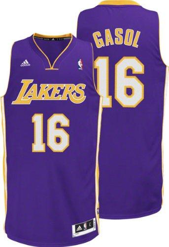 NBA Los Angeles Lakers Paul Gasol #16 Youth Swingman Road Jersey, Purple