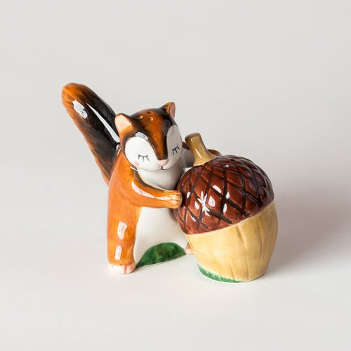 One Hundred 80 Degrees Chipmunk Acorn Salt Pepper Shakers