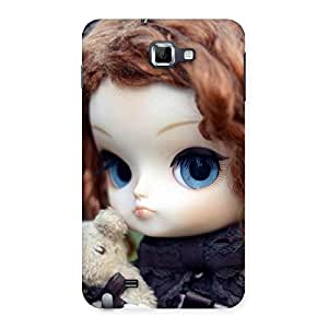 Impressive Teddy with Doll Back Case Cover for Galaxy Note
