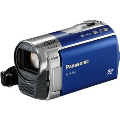 Panasonic SDR-S50A Std-Def SD Camcorder with 78X Zoom & Wide angle Lens (Blue)