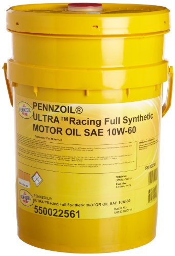 Pennzoil 550022561 Ultra 10w 60 Racing Full Synthetic Motor Oi