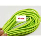 2M,3M,5M, Or 10M/Lot VDE Certified 2 Core Round Textile Electrical Wire Color Braided Wire Fabric Cable Vintage Lamp Power Cord green color 2m (Color: green color, Tamaño: 2m)