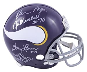 Minnesota Vikings Purple People Eaters Autographed Pro-Line Riddell Authentic Helmet... by Sports Memorabilia