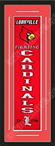 Heritage Banner Of Louisville Cardinals With Team Color Double Matting-Framed Awesome... by Art and More, Davenport, IA