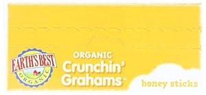 Earth's Best Organic Crunchin' Grahams, Honey Sticks, 5.3 Ounce (Pack of 6)
