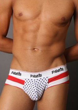 Pikante Patriotic Brief - Red